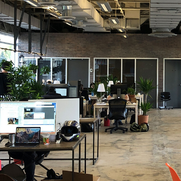modern office space in old industrial building